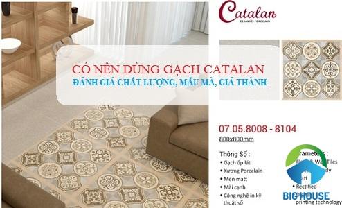 có nên dùng gạch catalan