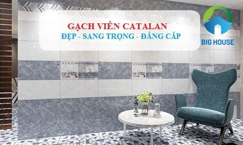 Gạch viền Catalan – Đẹp  Sang Trọng Cho Phòng Khách, Phòng Ngủ…