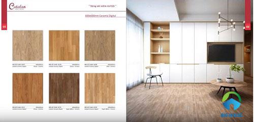 Phòng đọc lát gạch giả gỗ mang nét cổ điển trong không gian hiện đại