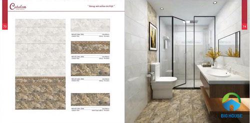 Bộ gạch lát nền, ốp tường giả đá độc đáo cho nhà vệ sinh