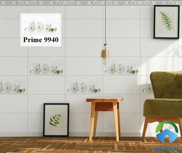 Mẫu gạch Prime 9940 sở hữu bề mặt bóng, rất hút sáng