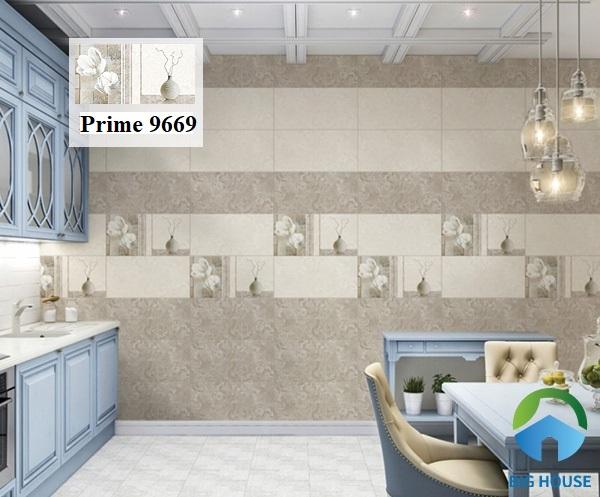 Thật tiếc nếu bạn bỏ lỡ mẫu gạch Prime 9669 họa tiết sinh động ốp tường bếp đẹp