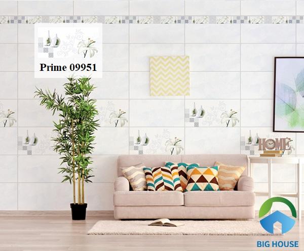 Mẫu gạch tạo điểm nhấn 14.300600.09951 của thương hiệu Prime rất thích hợp với không gian phòng khách