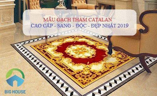 Gạch thảm là gì? TOP mẫu gạch thảm Catalan đẹp ấn tượng nhất