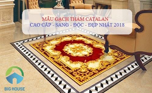 4 Mẫu gạch thảm phòng khách Catalan SANG – ĐỘC – ẤN TƯỢNG