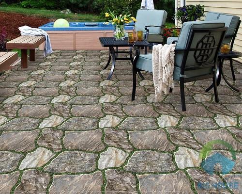 gạch giả đá lát sân vườn