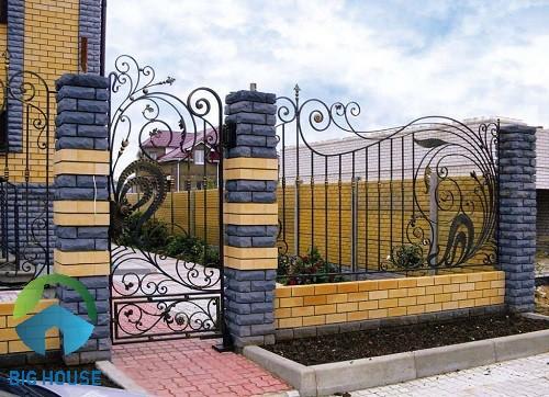 gạch ốp hàng rào 1