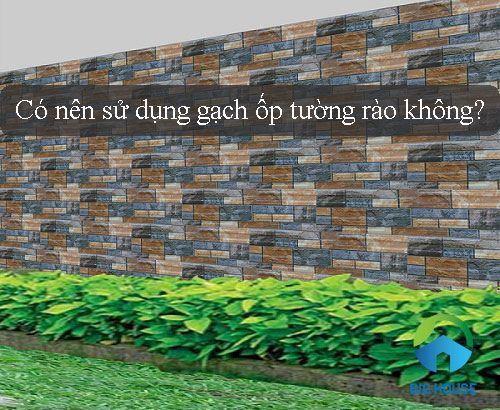 Có nên sử dụng gạch ốp tường rào không? Chuyên Gia Tư Vấn