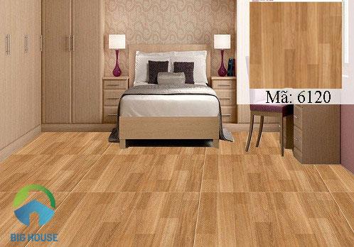 Gạch Catalan giả gỗ 6120 cho phòng ngủ