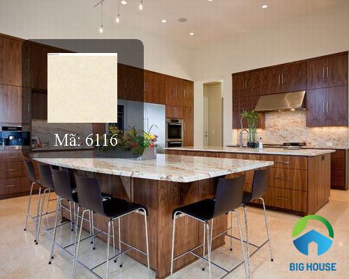 Gạch lát nền Catalan 60x60 sử dụng cho phòng bếp