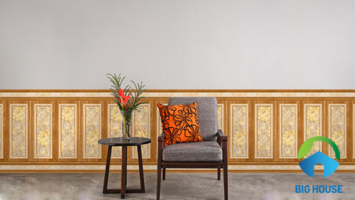 gạch ốp tường giả gỗ 40x90 1