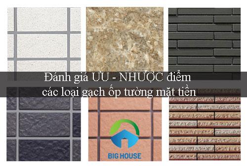 ƯU – NHƯỢC điểm các loại gạch ốp tường mặt tiền – Bạn nên biết?