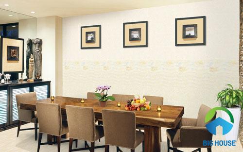 gạch ốp tường phòng ăn 1