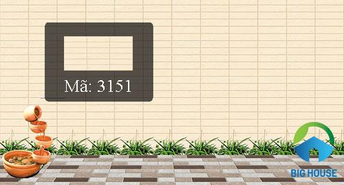 gạch ốp tường sân vườn sau nhà
