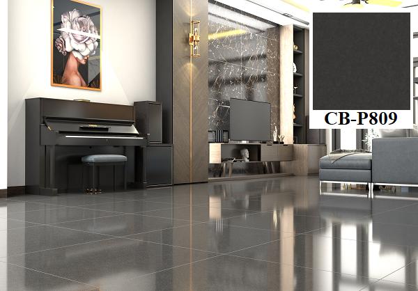 Mẫu gạch lát nền nhà màu xám đậm PLATINUM CB-P809 đến từ thương hiệu Viglacera cho những không gian có diện tích rộng