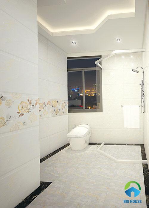 mẫu gạch ốp tường màu trắng