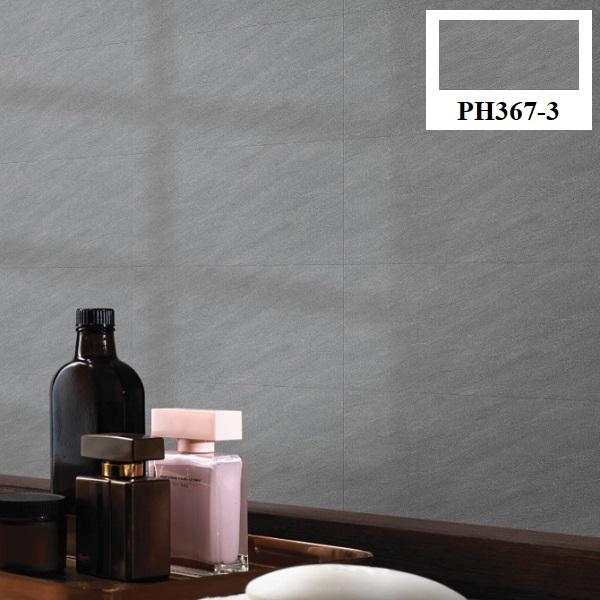 Không gian phòng tắm sử dụng mẫu gạch ốp tường màu ghi xám trung tính đẹp mắt Viglacera Platinum PH367-3
