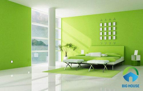 gạch ốp tường màu xanh