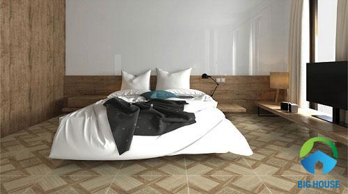 Gạch giả gỗ lát phòng ngủ 2