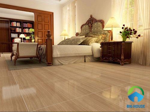 mẫu gạch giả gỗ lát nền phòng ngủ