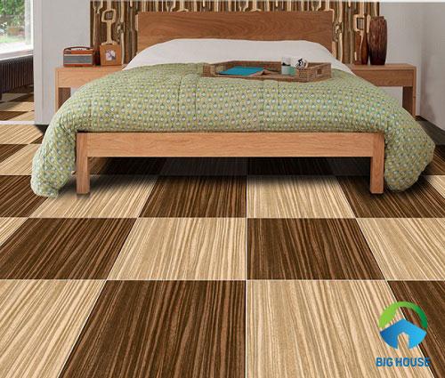 gạch giả gỗ phòng ngủ