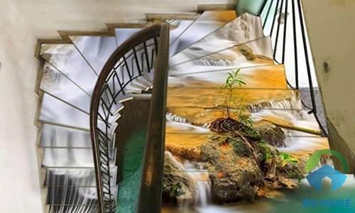gạch ốp cầu thang 3D 1