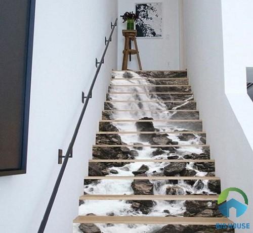 gạch ốp cầu thang 3D 2