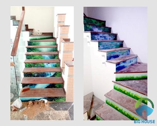 gạch ốp cầu thang 3D 3