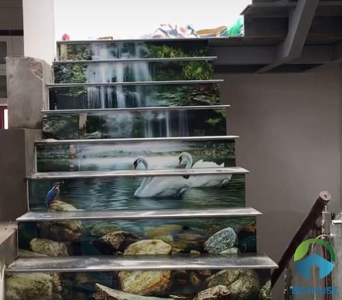 gạch ốp cầu thang 3D