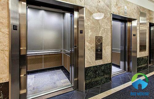 gạch giả đá ốp thang máy