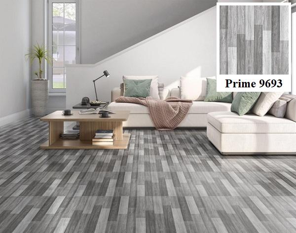 Một mẫu gạch giả gỗ màu xám trắng 9693 đẹp mắt đến từ thương hiệu Prime
