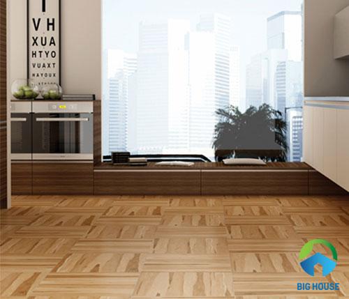 Cách lát sàn gạch giả gỗ kiểu thẳng