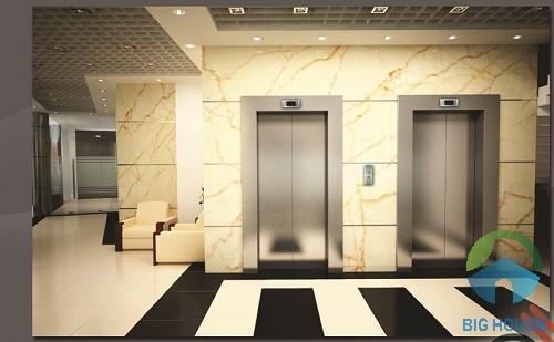 gạch vân đá ốp thang máy