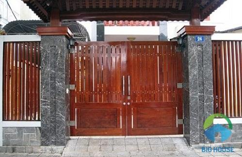 gạch giả đá ốp cột cổng