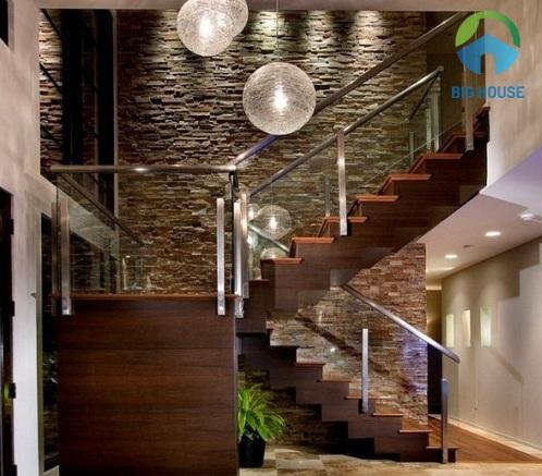 các mẫu gạch ốp tường cầu thang