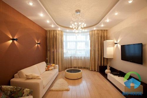 thiết kế phòng khách đẹp sang trọng