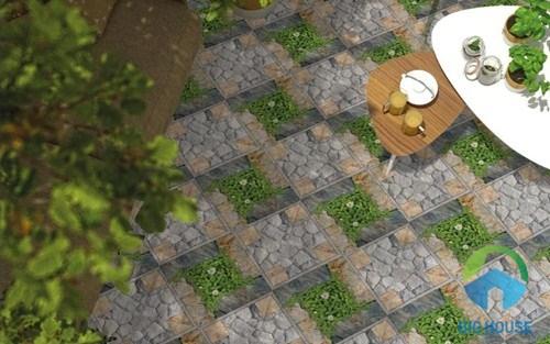 cách lát gạch sân vườn catalan