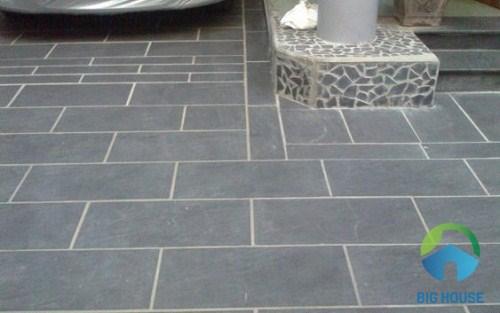 Phối cảnh sử dụng gạch granite lát sân vườn