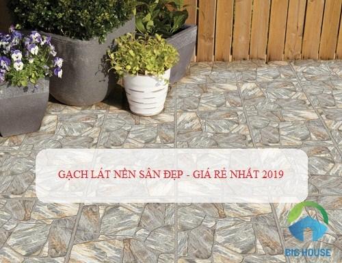 {HOT} Mẫu gạch lát nền sân Đẹp – Chống trơn tốt – Giá rẻ nhất 2019