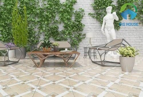 Gạch lát sân vườn có bao nhiêu loại kích thước