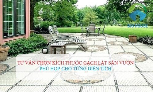 Kích thước gạch lát sân vườn bao nhiêu là hợp lý cho từng thiết kế khác nhau?