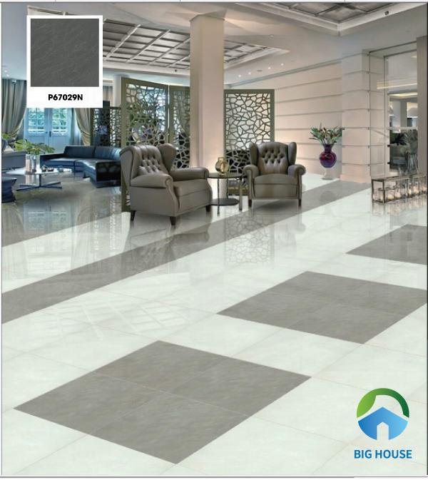 Gạch Taicera P67029N 60x60 chất liệu granite có độ cứng cao, độ bền tốt. Với thiết kế tone mài ghi đen cùng những vân đá tinh tế mang đến vẻ đẹp sang trọng cho không gian.