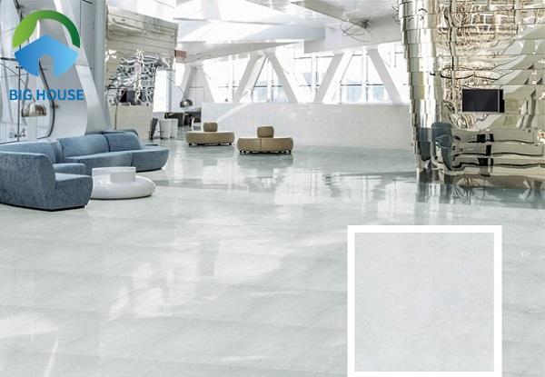 Gợi ý mẫu gạch Đồng Tâm 6060PLATINUM001 lát nền không gian phòng khách rất đẹp
