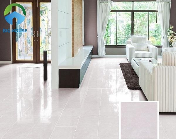 Gạch Đồng Tâm 60x60PLATINUM002 có chất liệu granite bóng kiếng rất hút sáng