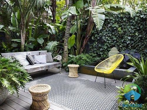 gạch lát sân vườn nhà phố chống trơn