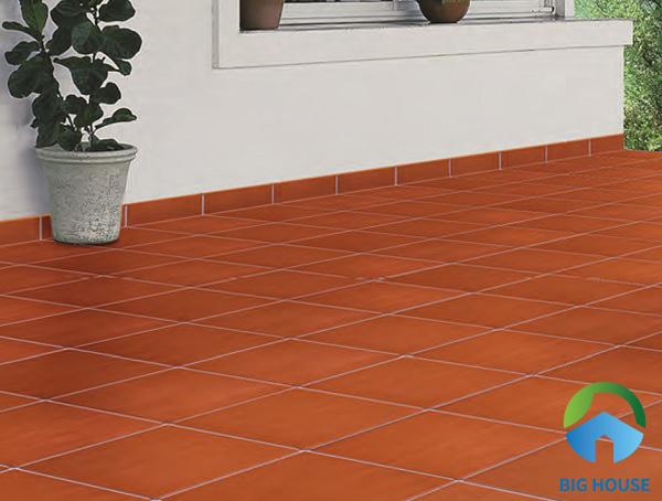 Mẫu gạch đỏ cotto được sản xuất bởi các thương hiệu nổi tiếng như Viglacera, Prime...