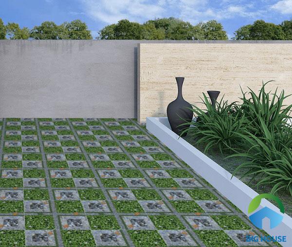 Chọn gạch có khả năng chống thấm tốt là một trong những tiêu chí hàng đầu với khu vực sân thượng