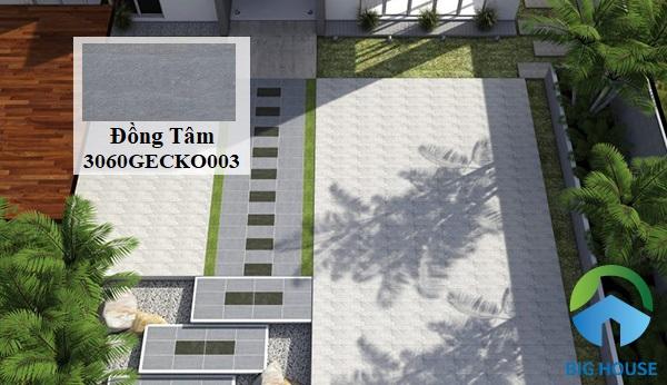 Mẫu gạch Đồng Tâm 3060GECKO003 lát sân thượng với thiết kế giả xi măng màu xám đậm thanh lịch, mang đến nét đẹp tối giản cho công trình. Kích thước 30x60 tạo sự khác biệt, mới lạ cho không gian sở hữu. Đặc biệt, gạch được làm từ chất liệu granite cao cấp, đảm bảo chất lượng và tuổi thọ lâu bền