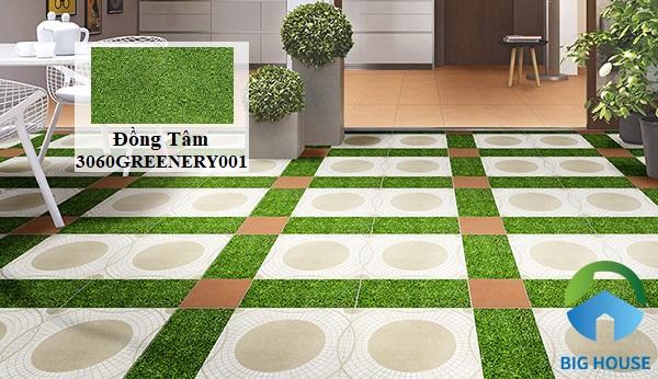 Bạn có thể sử dụng mẫu gạch giả cỏ Đồng Tâm 3060GREENERY001 30x60 mang vẻ đẹp tươi mát và sinh động cho không gian tầng thượng