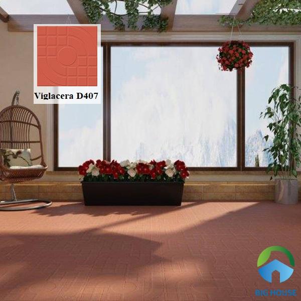 Gạch đỏ Viglacera D407 với kiểu dáng đơn giản được ứng dụng phổ biến ngày nay. Gạch có độ cứng chắc đảm bảo trường tồn với thời gian sử dụng. Đồng thời, dòng gạch nung này rất bền màu giúp tăng tính thẩm mỹ